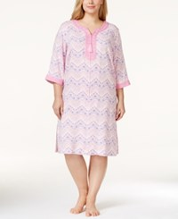 Charter Club Plus Size Chevron Print Caftan Only At Macy's
