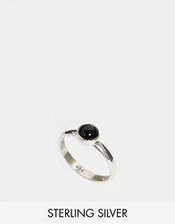 Regal Rose Lana Onyx And Sterling Silver Ring Black