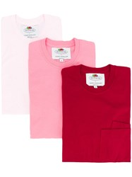 Cedric Charlier Double Pocket T Shirt 3 Pack Red