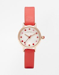 Johnny Loves Rosie Spot Dial Watch Red