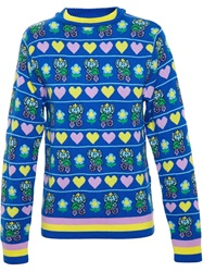 Jeremy Scott Elephant Print Jumper Multicolour