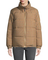 Burberry Reversible Check Puffer Jacket Antique Yellow
