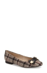 Bella Vita 'Ozark Bow' Ballet Flat Women Stone Plaid Flannel