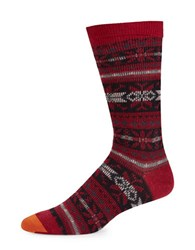 Goldtoe Nordic Fair Isle Patterned Socks Chilipepper