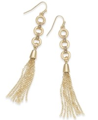 Thalia Sodi Gold Tone Chain Link Tassel Drop Earrings Only At Macy's