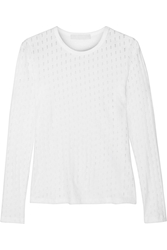 Kain Label Zephyr Perforated Cotton Jersey Top White