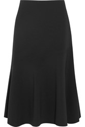 Jil Sander Fluted Stretch Crepe Skirt Black