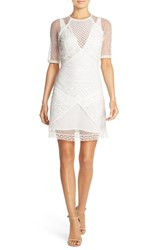 French Connection Women's 'Rene' Lace Sheath Dress White