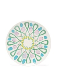 Peter Pilotto Abstract Print Large Ceramic Plate Green Multi
