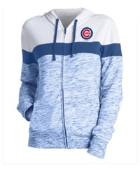 5Th And Ocean Women's Chicago Cubs Space Dye Hoodie Royalblue White