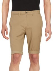 Ben Sherman Stretch Cuffed Shorts Beige