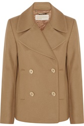 Michael Michael Kors Double Breasted Wool Blend Peacoat