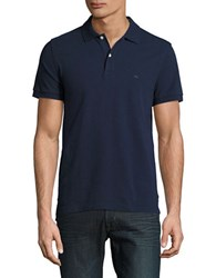 Brooks Brothers Textured Cotton Polo Navy