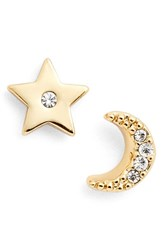 Women's Kate Spade New York 'Star And Moon' Asymmetrical Stud Earrings