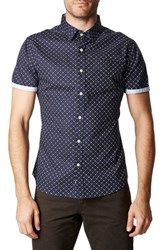 7 Diamonds 'S Hold It Down Woven Shirt Navy