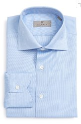 Canali Men's Big And Tall Regular Fit Solid Dress Shirt White