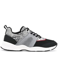 Christian Dior Homme Contrast Panel Sneakers Black
