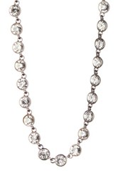 Stephan And Co Crystal Stone Necklace White