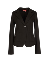 Manila Grace Denim Blazers Black
