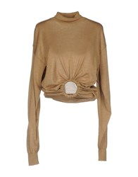 Celine Turtlenecks Camel