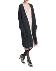 Tracy Reese Knee Length Sweater Coat Loden