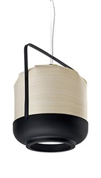 Lzf Chou Short Suspension Lamp Ivory White Small E26 Base White Brown Blue