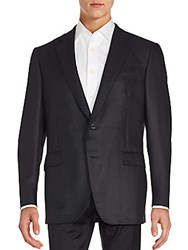 Saks Fifth Avenue By Samuelsohn Two Button Sleek Sport Coat Black