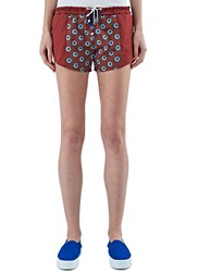 Bobby Kolade Kenyan Print Double Drawstring Shorts Red