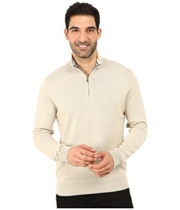 Nautica 1 4 Zip Sweater Linen Breeze Men's Sweater Bone