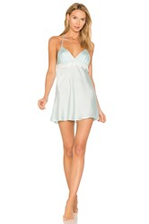 Flora Nikrooz Mira Texture Satin Lace Chemise Baby Blue