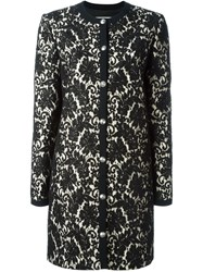 Fausto Puglisi Layered Lace Coat Black