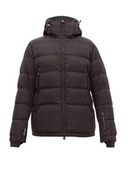 Moncler Grenoble Isorno Logo Print Down Ski Jacket Black