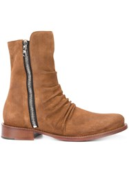 Amiri Stack Boots Brown