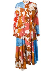Dodo Bar Or Ossi Patchwork Dress Brown