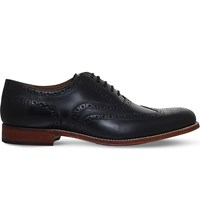 Grenson Dylan Leather Oxford Brogues Black