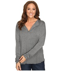 Stetson Plus Size 0759 Rayon Knit V Neck Blouse Grey Women's Blouse Gray
