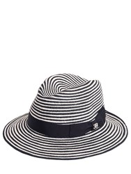 Ettore Bugatti Collection Striped Woven Straw Hat