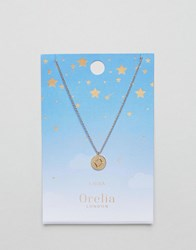 Orelia Libra Constellation Disc Pendant Gold