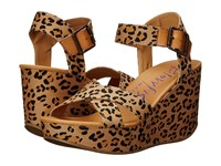 Blowfish Dellis Golden Safari Leopard Desert Sand Dyecut Pu Women's Wedge Shoes Beige