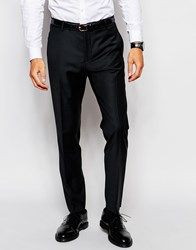 Selected Homme Travel Suit Trousers With Stretch In Slim Fit Black