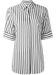 Studio Nicholson Striped Shortsleeved Shirt Grey