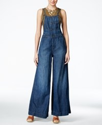Lucky Brand Jeans Gramercy Navy Wash Overalls