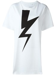 Neil Barrett Lightning Bolt T Shirt White