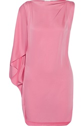 Vionnet Stretch Silk Mini Dress Pink