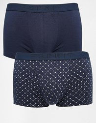 Esprit 2 Pack Trunks With Geo Print Blue