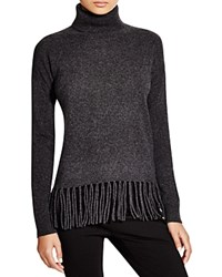 C By Bloomingdale's Fringe Turtleneck Sweater