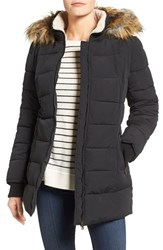 Larry Levine Women's Faux Fur Trim Quilted Parka