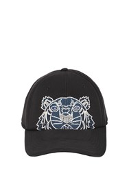 Kenzo Iconic Tiger Neoprene Baseball Hat Black