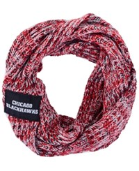 Forever Collectibles Chicago Blackhawks Peak Infinity Scarf Red Black