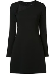 Cushnie Et Ochs Lace Up Neck Detailing Dress Black